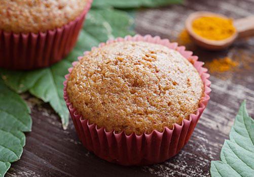Muffin-curcuma